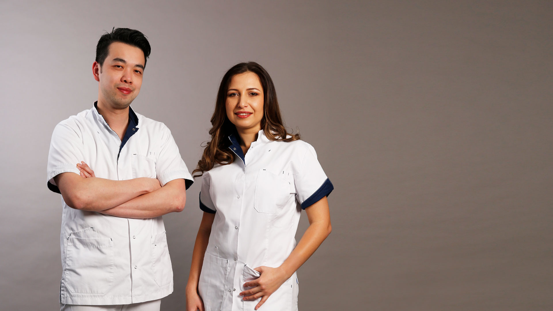 Doctor Wing Yuen and Doctor Stefania Stana